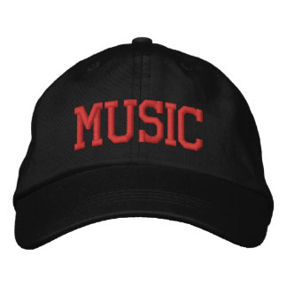 MUSIC EMBROIDERED BASEBALL CAPS