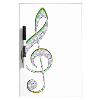 MUSIC Emerald and Diamond Treble Clef Dry Erase Board