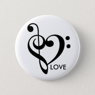 Music Equals Love Button