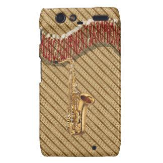 Music Equipment Saxophone with Batik Background Droid RAZR Cases