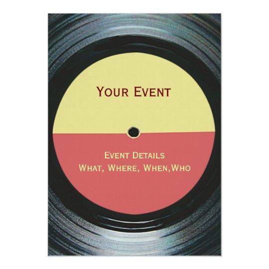 Music Event Dance DJ Party Invitation