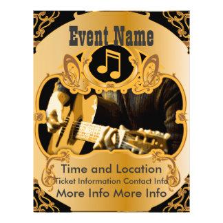 Music Event Vintage Gold Flyer