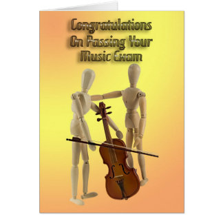 Music exam congratulations card