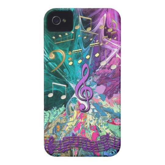 Music Explosion iPhone 4 Cover