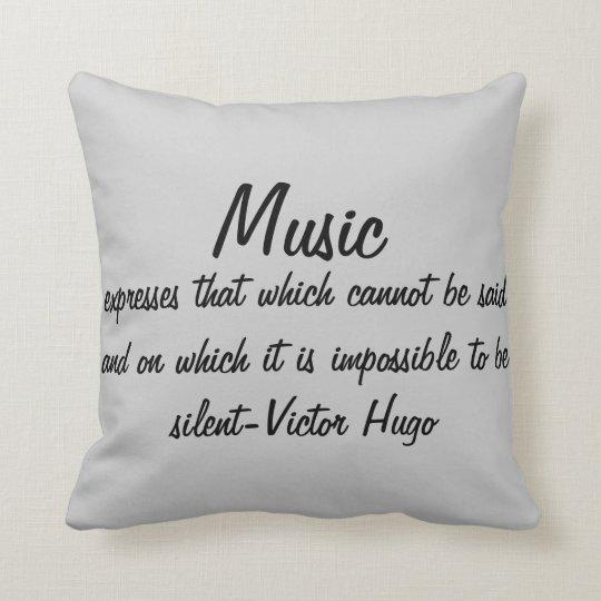 Music expresses cushion