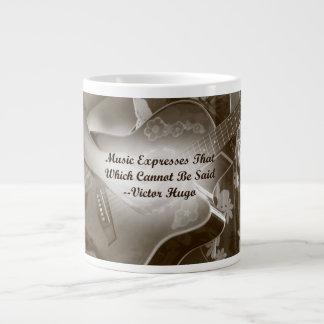 Music Expresses that guitar photo saying 20 Oz Large Ceramic Coffee Mug