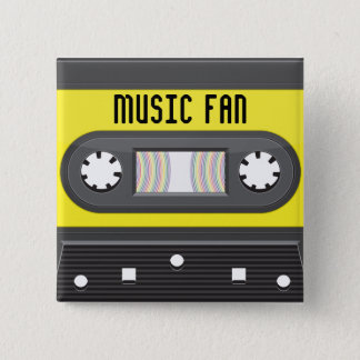 Music fab cassette with rainbow tape button