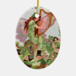 Music Faerie Playing Music Ceramic Oval Decoration