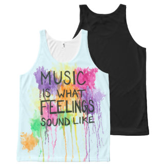 Music & Feelings All-Over Print Tank Top