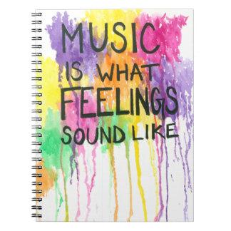 Music & Feelings Spiral Note Book
