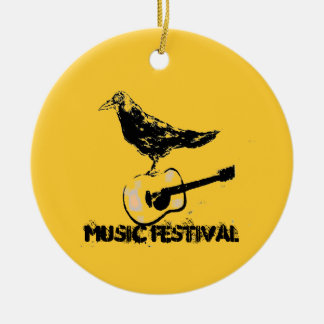 music festival art christmas ornament