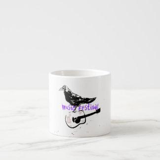 music festival art espresso mug