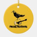 music festival art ornament