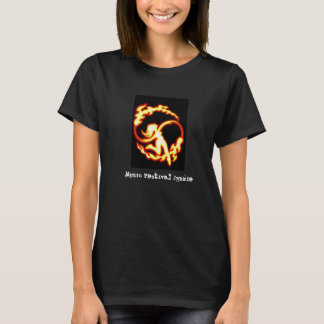 Music Festival Junkie Fire Poi Black T-Shirt