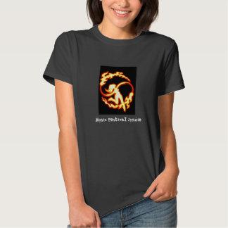 Music Festival Junkie Fire Poi Black Tee Shirts
