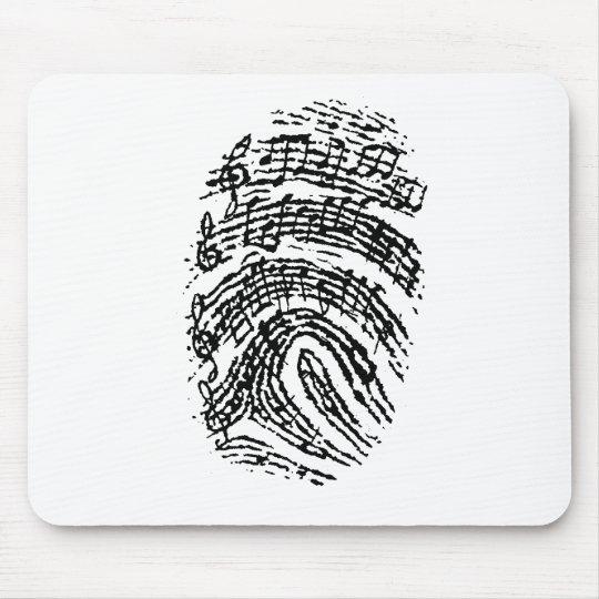 Music Fingerprint Mouse Mat