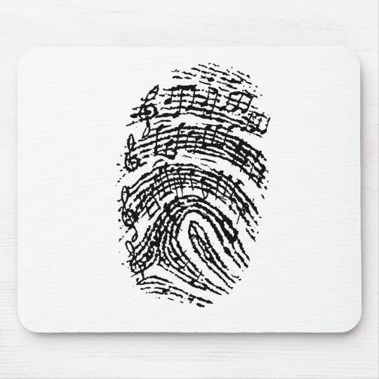 Music Fingerprint Mouse Pad