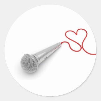 Music for love classic round sticker