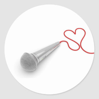 Music for love round stickers