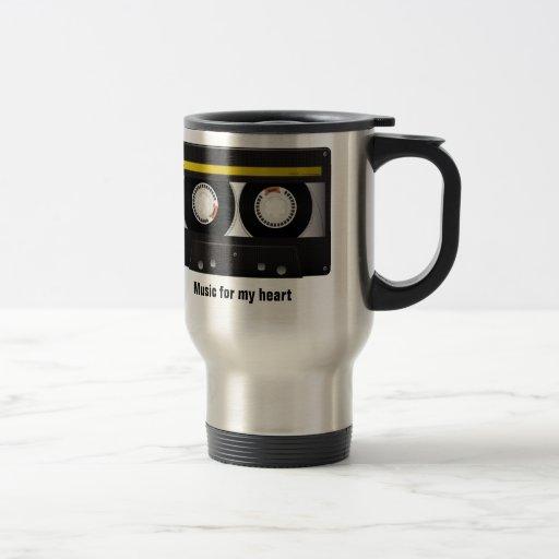 Music for my heart coffee mugs