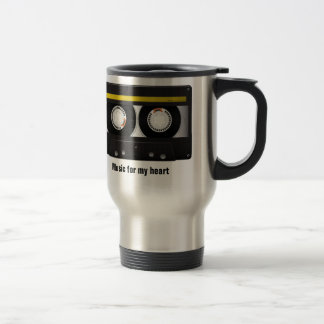 Music for my heart stainless steel travel mug