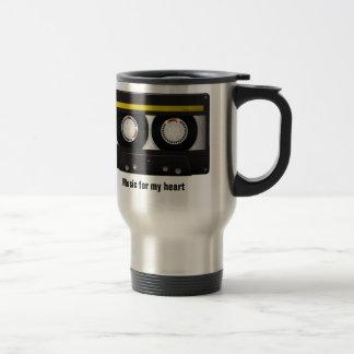 Music for my heart stainless steel travel mug