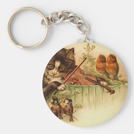 Music For The Birds Basic Round Button Key Ring