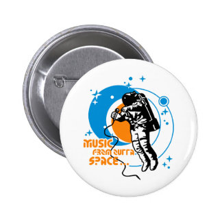 Music from outta Space 6 Cm Round Badge