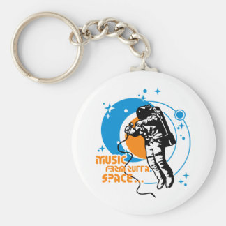 Music from outta Space Basic Round Button Key Ring