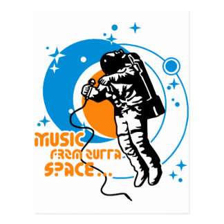 Music from outta Space Postcard