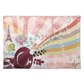 Music from Vintage Gramophone Placemat