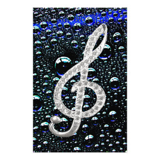 Music Gclef Symbol Stationery Design