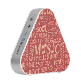 Music Genres Word Collage bluetooth speaker