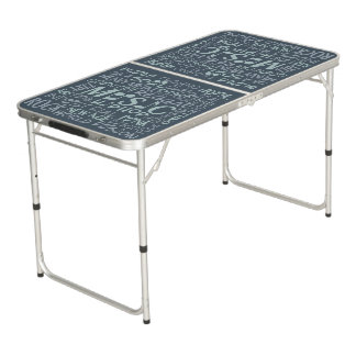 Music Genres Word Collage ping pong table