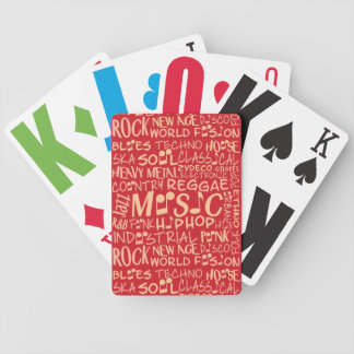 Music Genres Word Collage playing cards