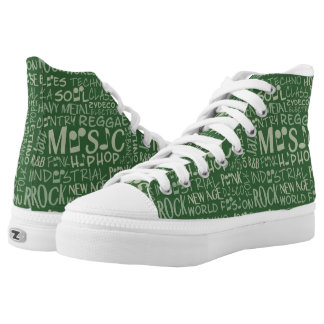 Music Genres Word Collage shoes