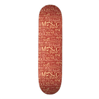 Music Genres Word Collage skateboards