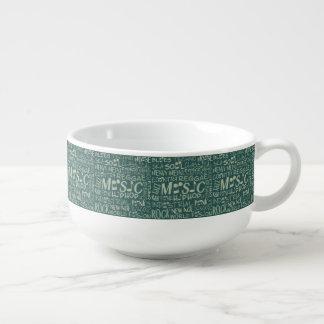 Music Genres Word Collage soup mug