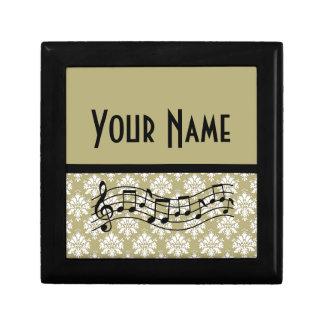 Music Gift Personalized Damask Design Gift Box