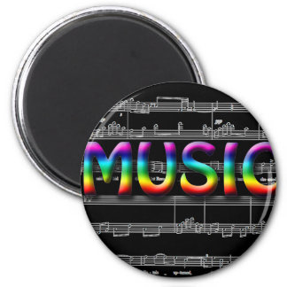 Music Gifts! 6 Cm Round Magnet