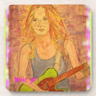 music girl art coaster