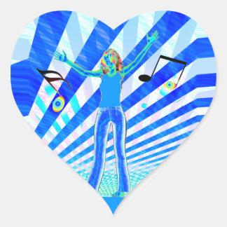 Music Girl Heart Sticker