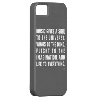 Music Gives A Soul To The Universe iPhone 5 Cover