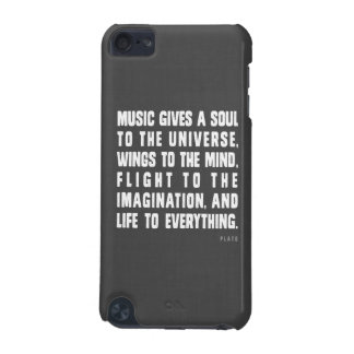 Music Gives A Soul To The Universe iPod Case