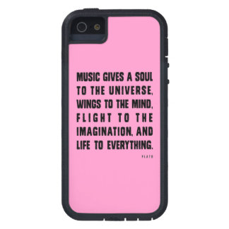 Music Gives A Soul To The Universe Tough Xtreme iPhone 5 Case