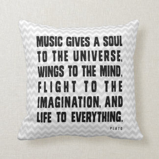 Music Gives Soul To The Universe Throw Pillow