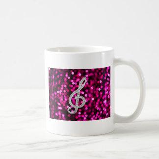 Music Glef with light background Coffee Mug