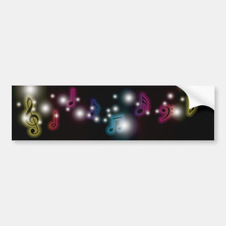 Music Glow Bumper Sticker