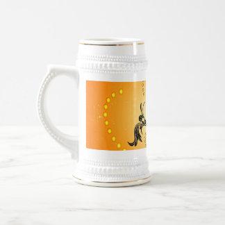 Music, Golden clef with decorative damasks Mugs