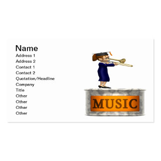 Music Graduate Double-Sided Standard Business Cards (Pack Of 100)